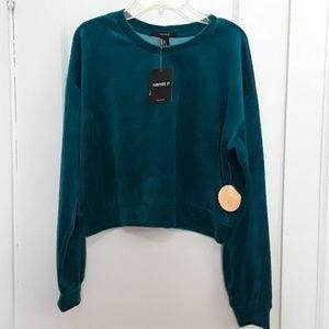 Forever 21 like velvet crop sweatshirt Size: Small